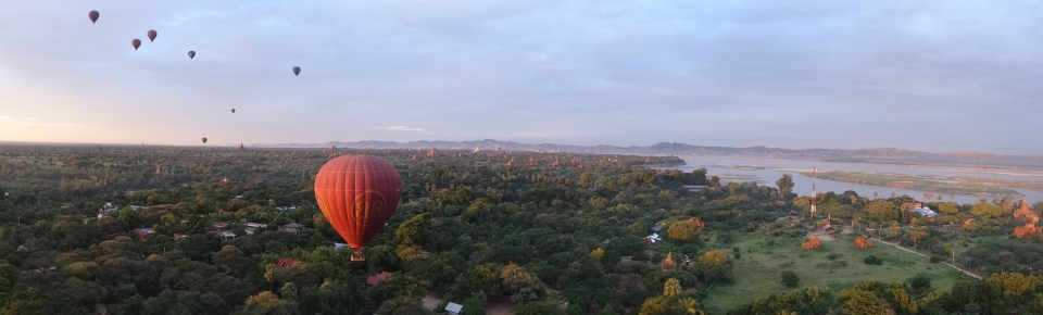 Ballooning in Bagan, Burma