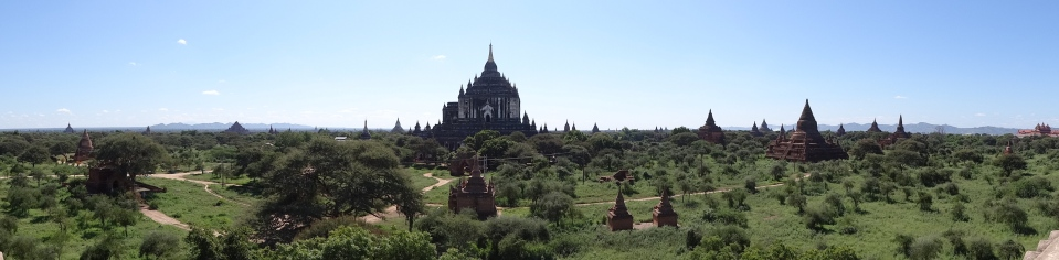 Bagan temples from the ground