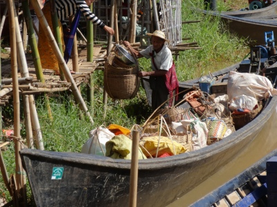 at the floating market