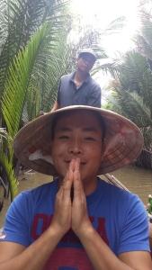 Tuyen praying for sunshine