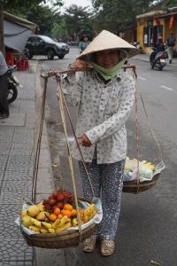 street seller in Hoi An