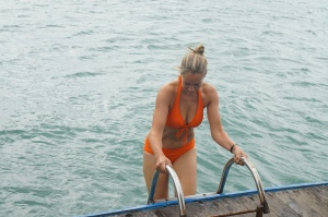 braving the cold in the South China Sea