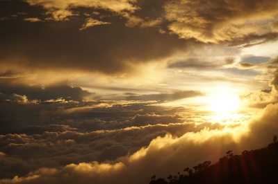 sunset at Laban Rata
