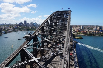 View from the Harbour Bridge pylons