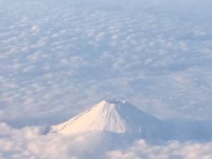 Mt Fuji from the plane